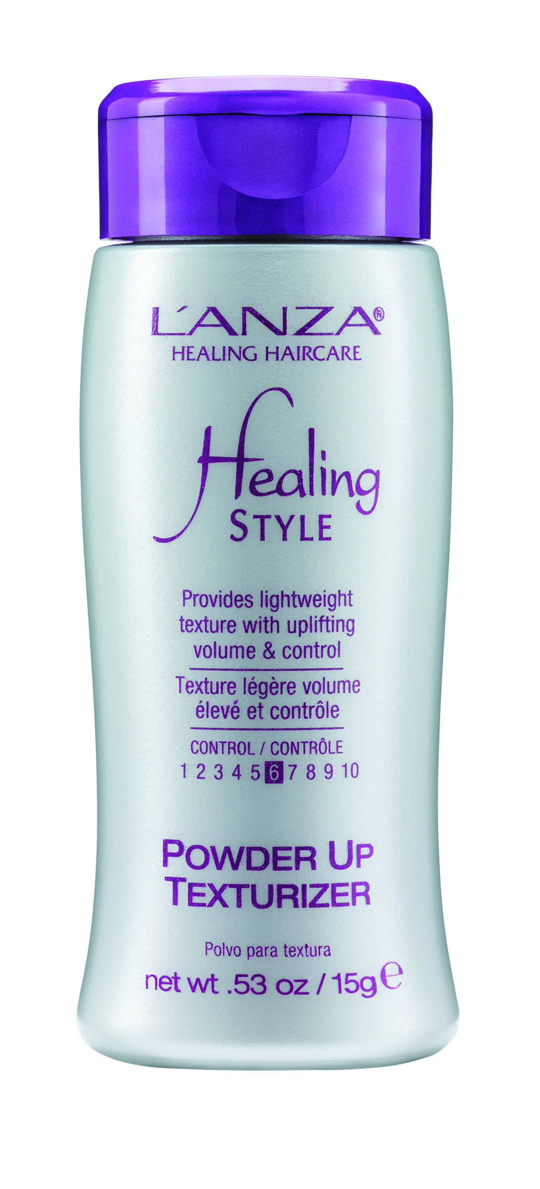 L'Anza Powder Up Texturizer instantly delivers lightweight texture and volume. The unique silica powder dissolves immediately and provides thermal protection up to 500 degrees.