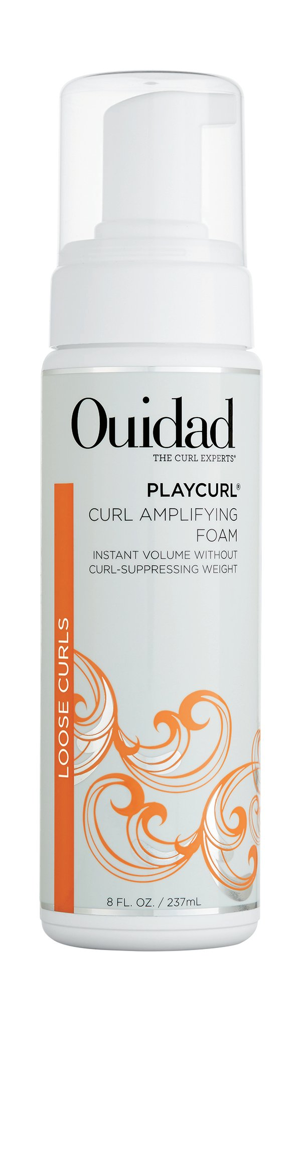 Ouidad  PlayCurl Curl Amplifying Foam has a layerable formula that won't weight down curls. The infusion of moisture and non-drying polymers creates a full-bodied, perfect curl pattern.
