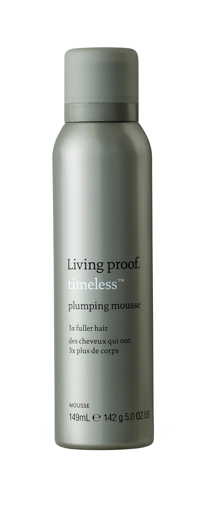 Living Proof  Timeless Plumping Mousse works like a temporary filler, bringing oomph back to aging hair. It has the highest content of the brand's patented volumizing technology to make hair.