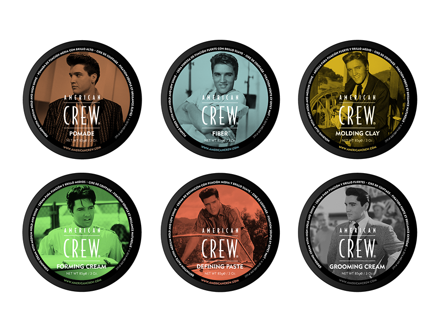 "American Crew Forming Cream has medium-hold and gives great shine. This is one of six products in a limited edition run with custom designed Elvis Presley labels, each featuring  a unique image of ""The King."""