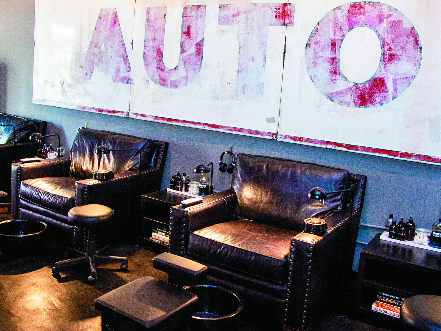 At Hammer & Nails, guys can relax and enjoy pampering nail services in a masculine environment.