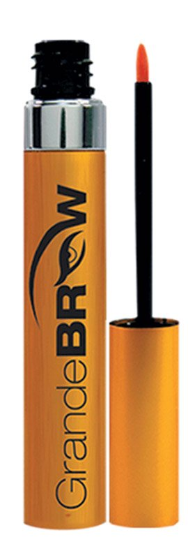 GRANDE BROW A proprietary blend of vitamins, peptides, amino acids and conditioning ingredients work to promote thicker and fuller brows in 6-8 weeks