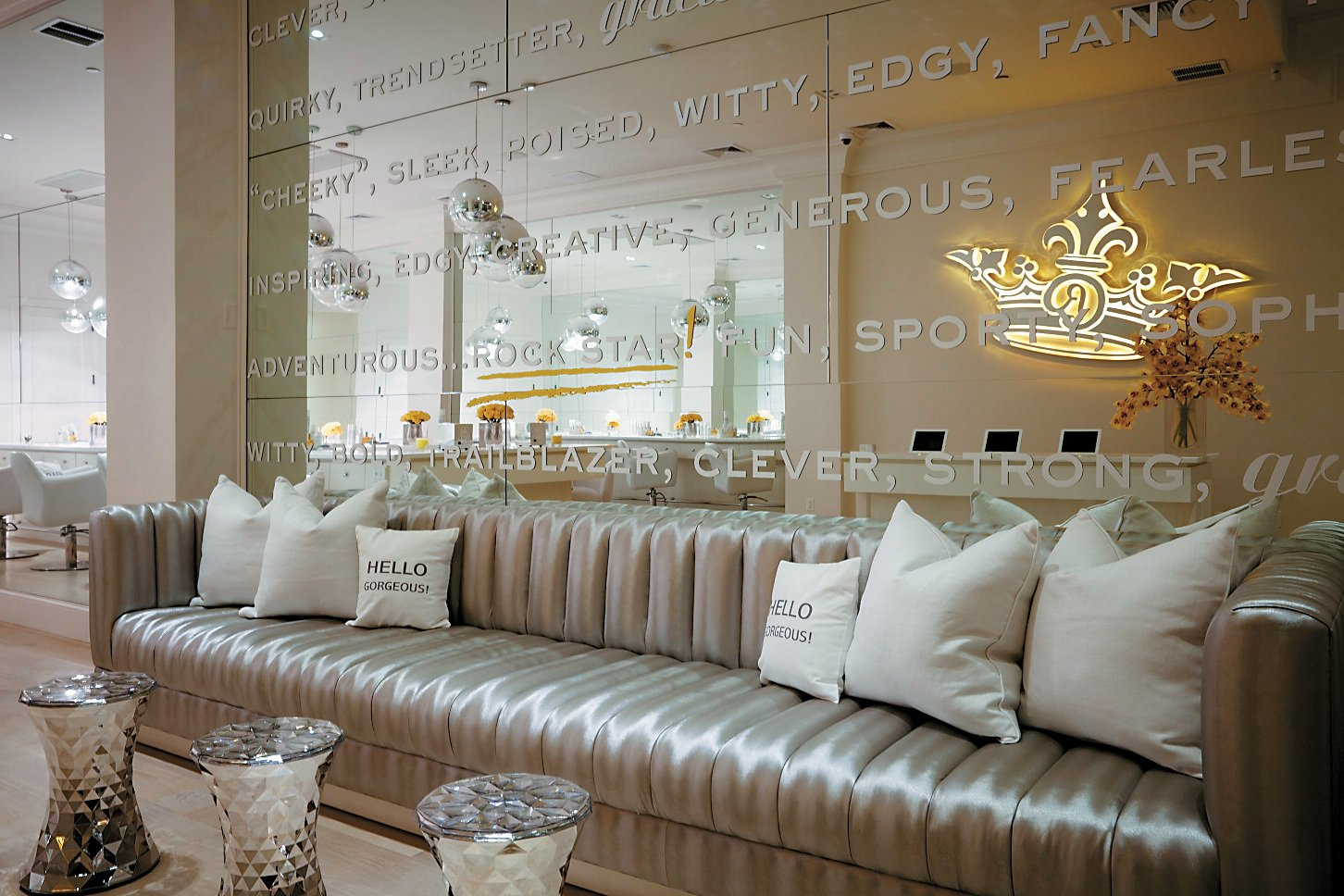 Clients can relax in RPZL's luxurious and posh space where they can order drinks, Baked by Melissa cupcakes and even checkout at the touch of a tablet.