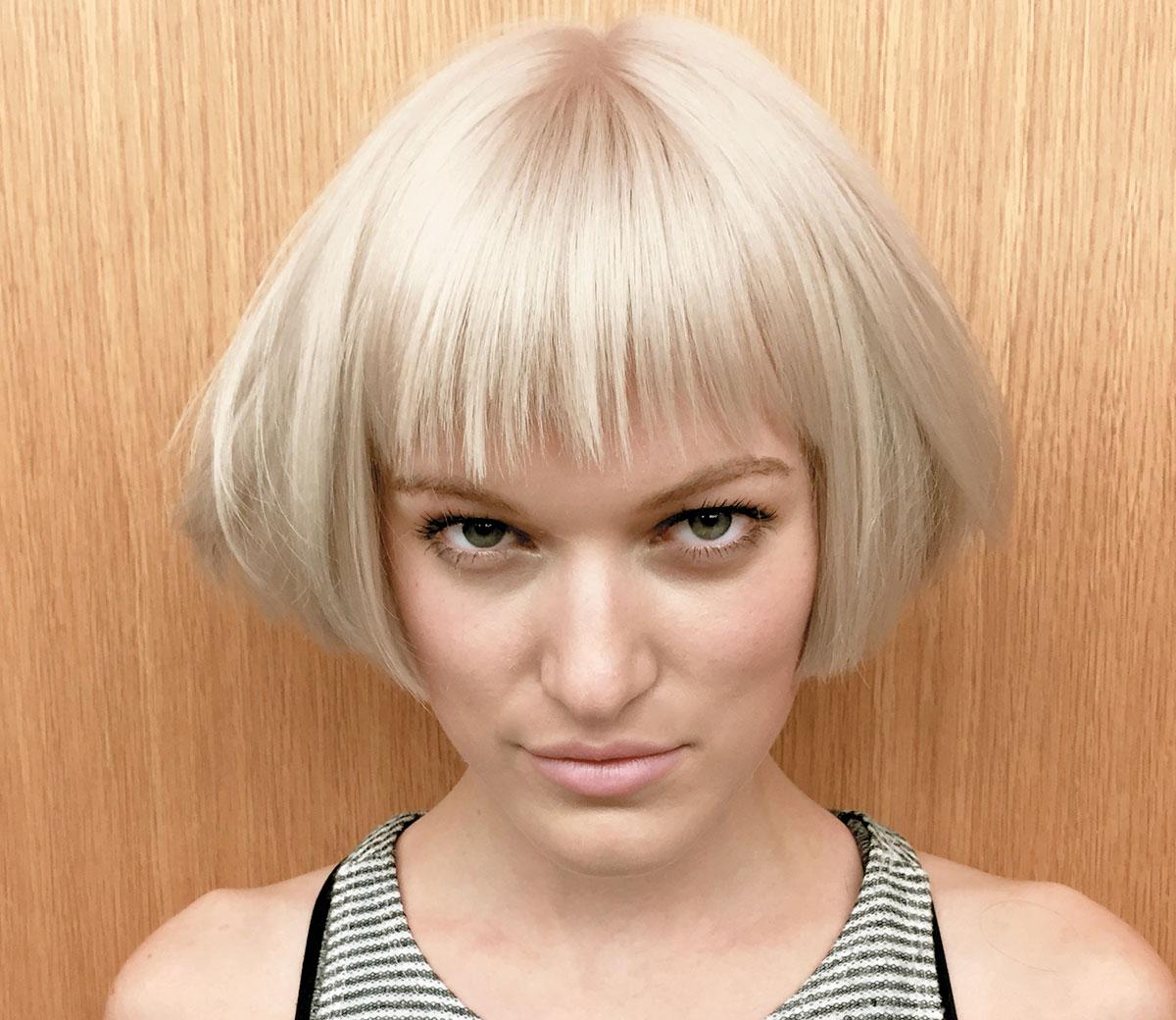 The fringe makes this bob pop, Traci Sakosits @tracisak_hair