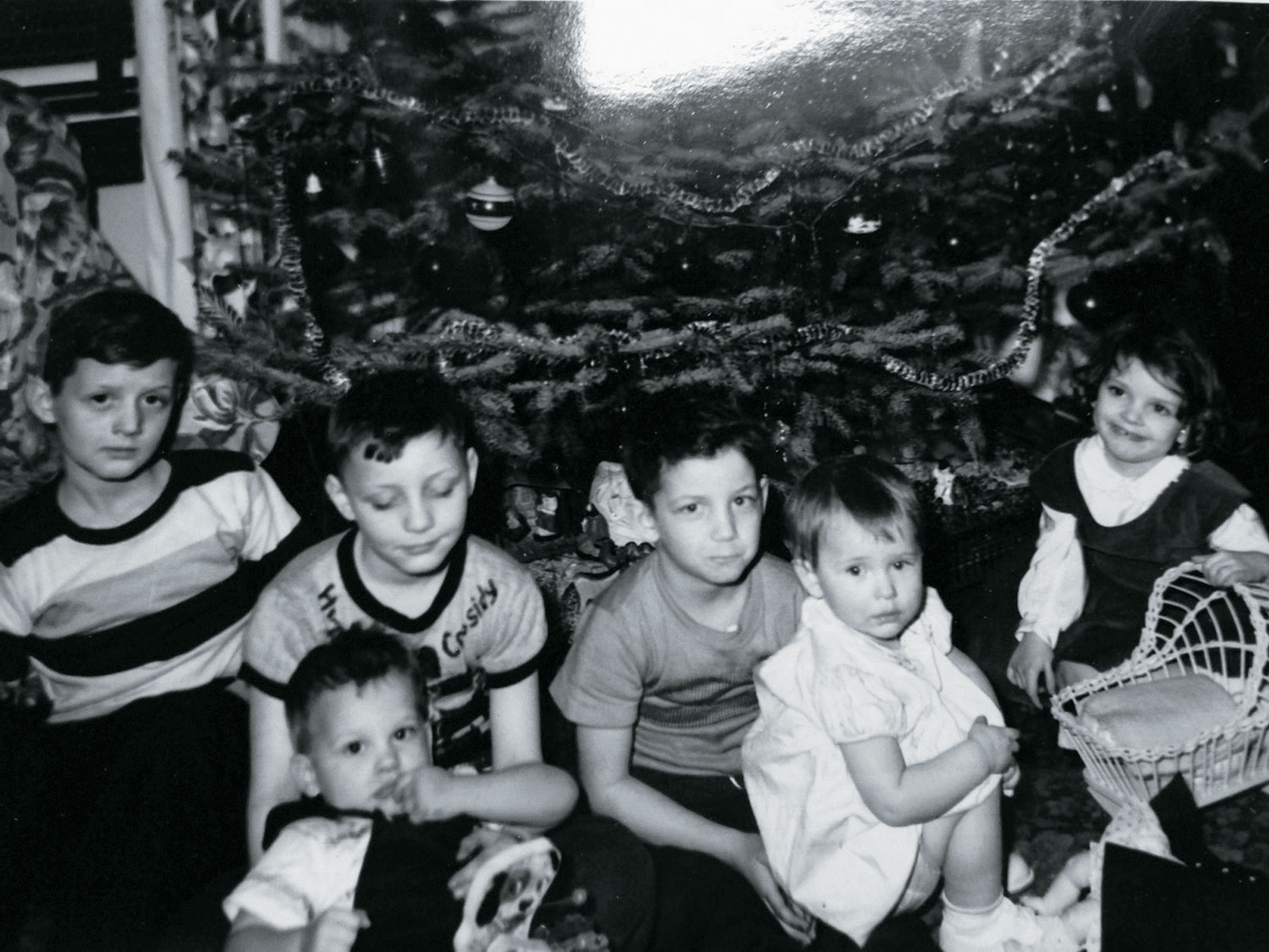 That's me (far right) with my younger brother and cousins on Christmas Day, 1951.