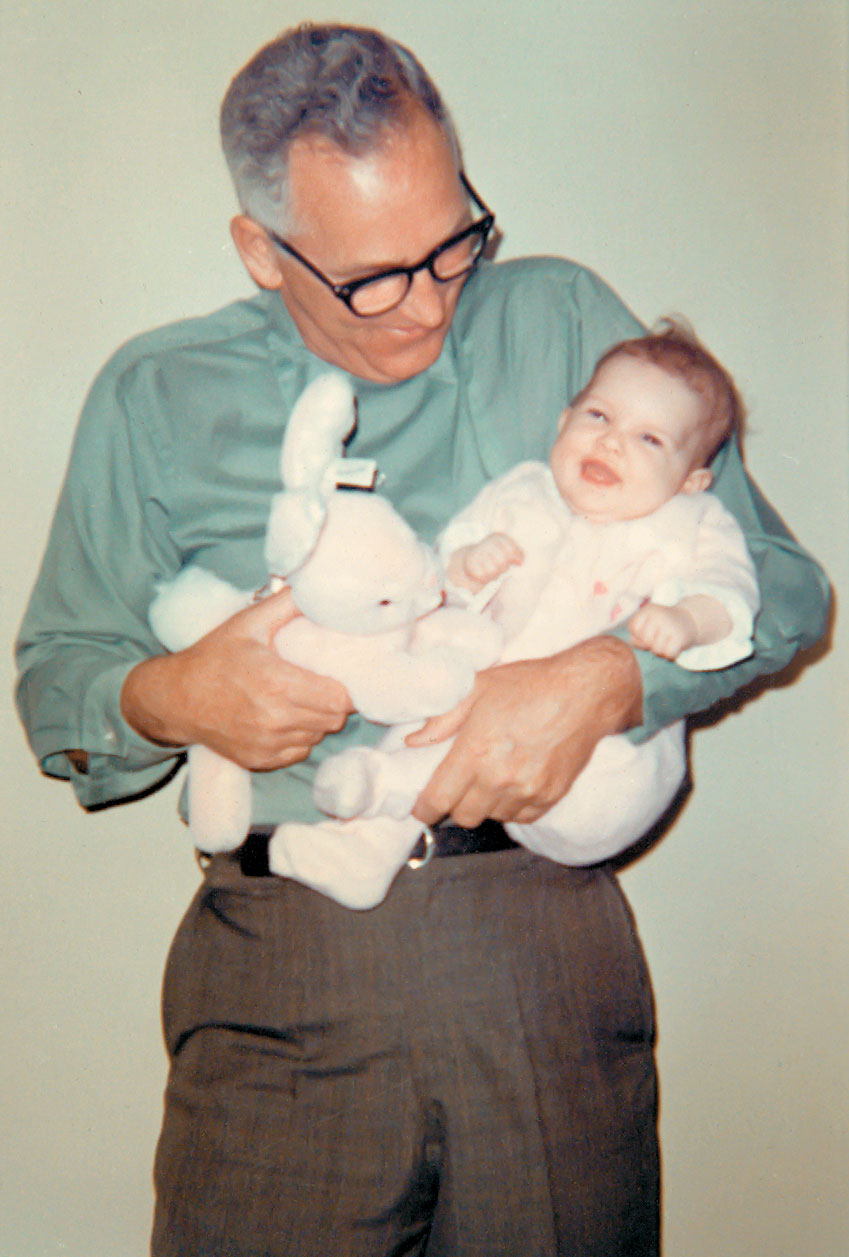 My father with my daughter, Rachel, in 1970.