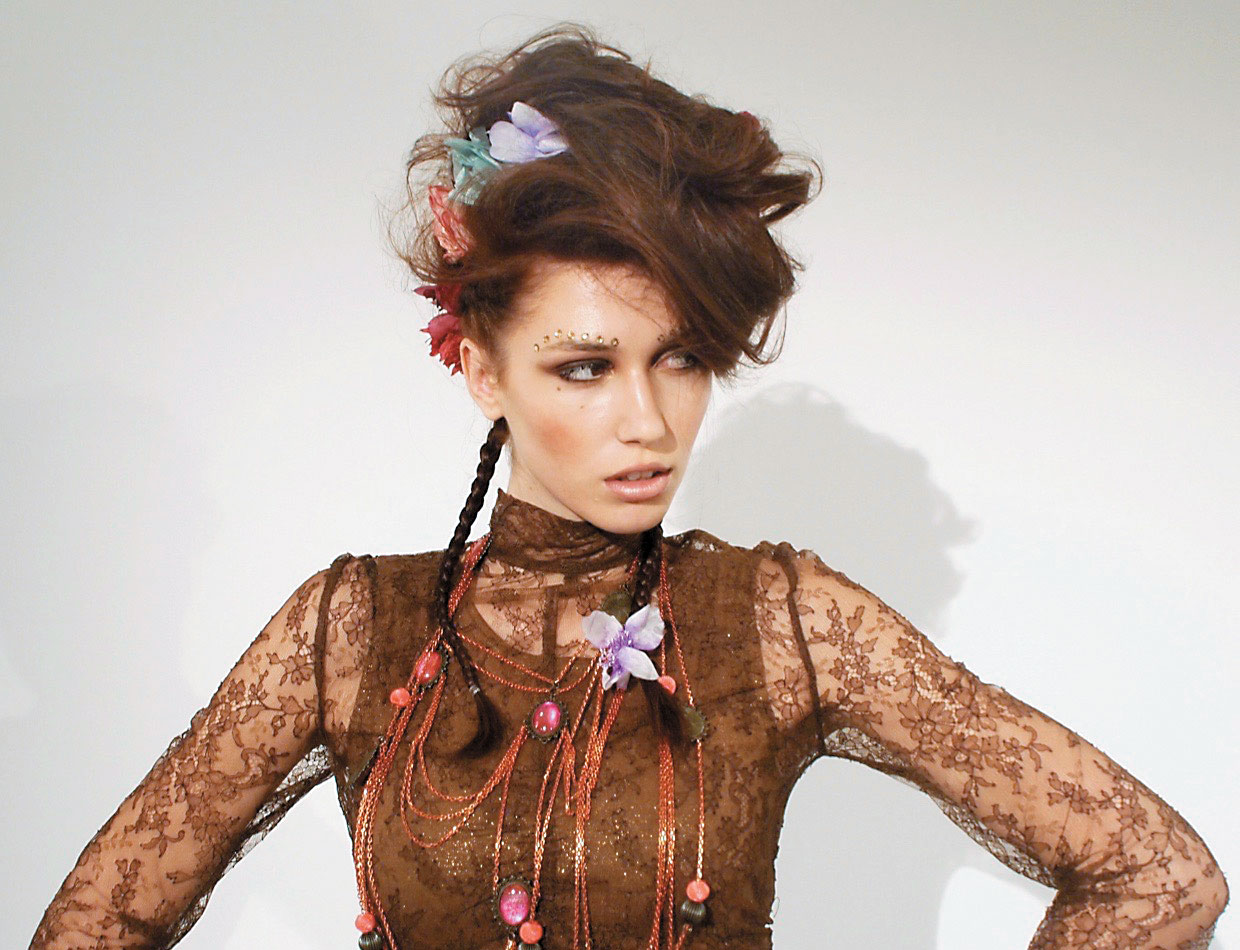 The emphasis is on the accessories to adorn and embellish  the hair.