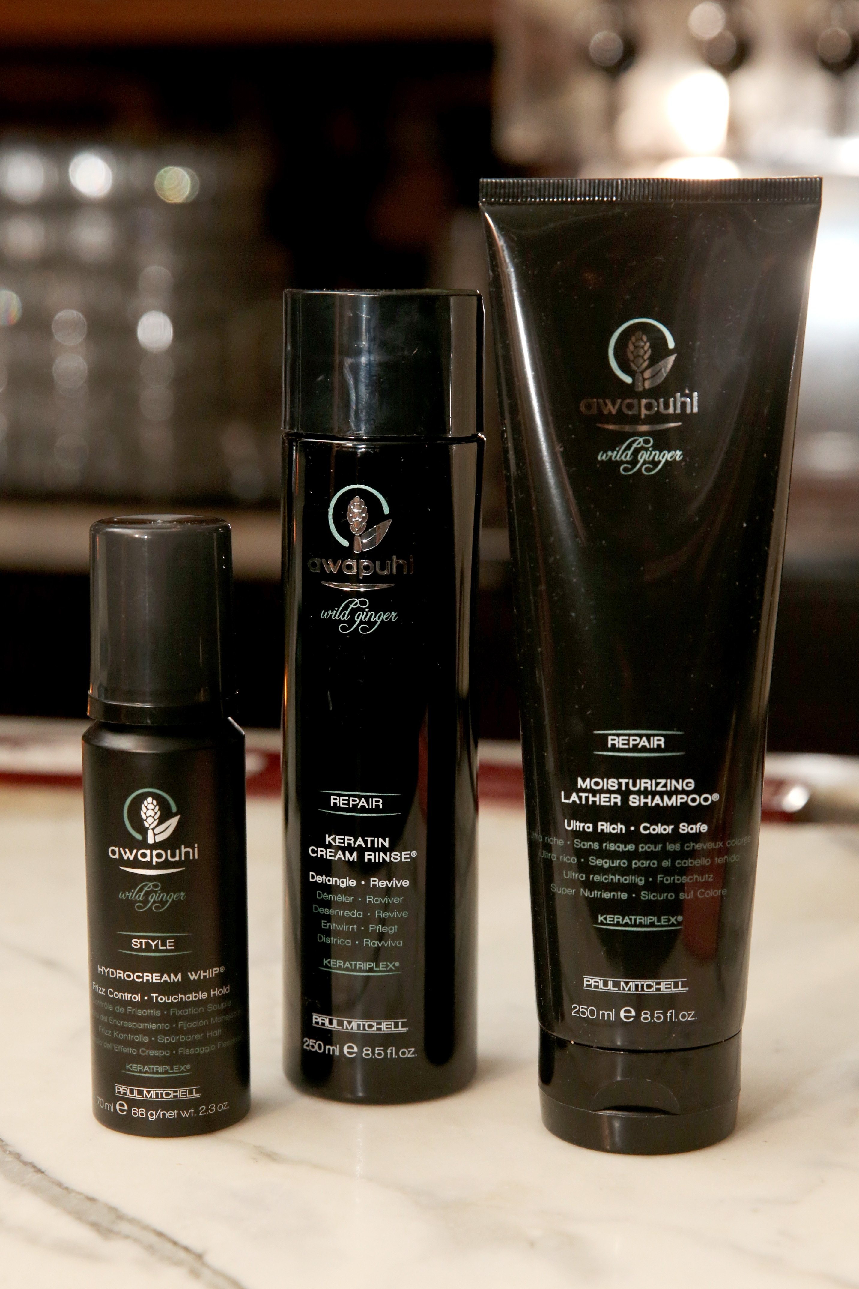 Awapuhi products were used to style the models.