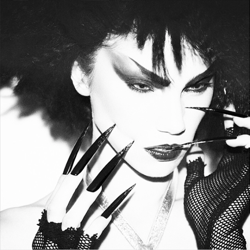 Model Ayanil pulls of punk beauty perfectly for Vestal Magazine, and I created highly textured, jet-black hair to complement the sharp, dark style.