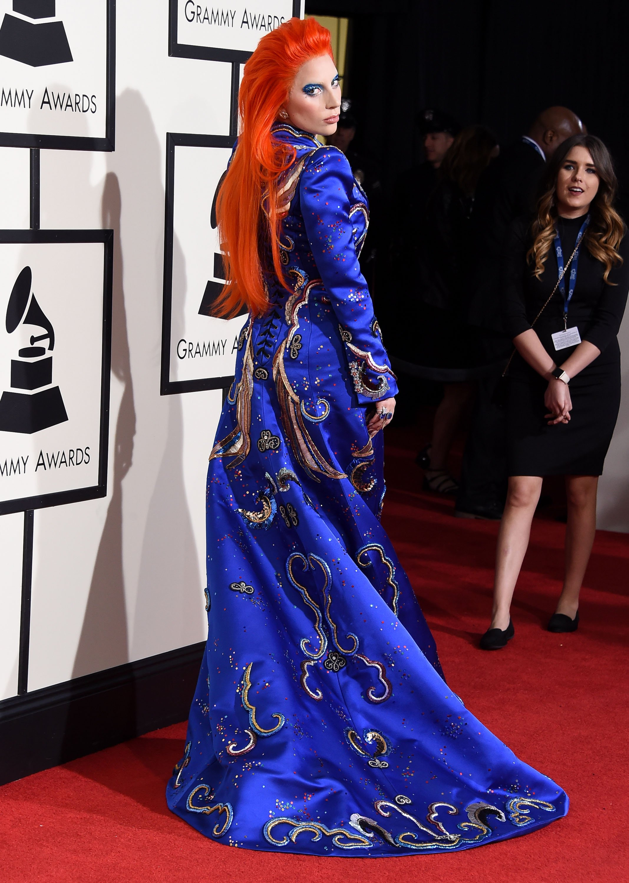 Lady Gaga arrives at the The 58th GRAMMY Awards at Staples Center on February 15, 2016 in Los Angeles City. // Photo by Steve Granitz/WireImage
