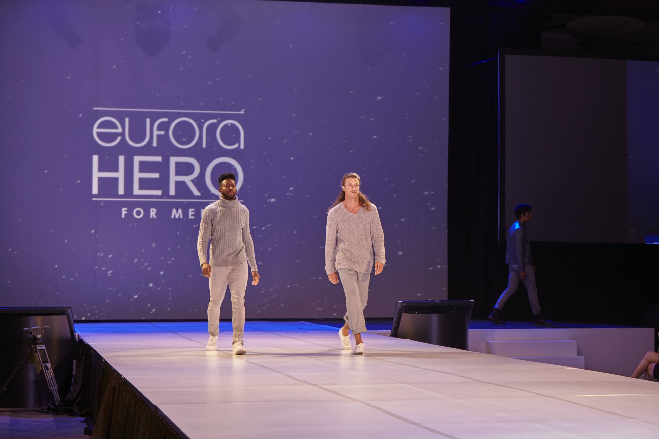 Models walk the runway for the Eufora Hero for Men collection