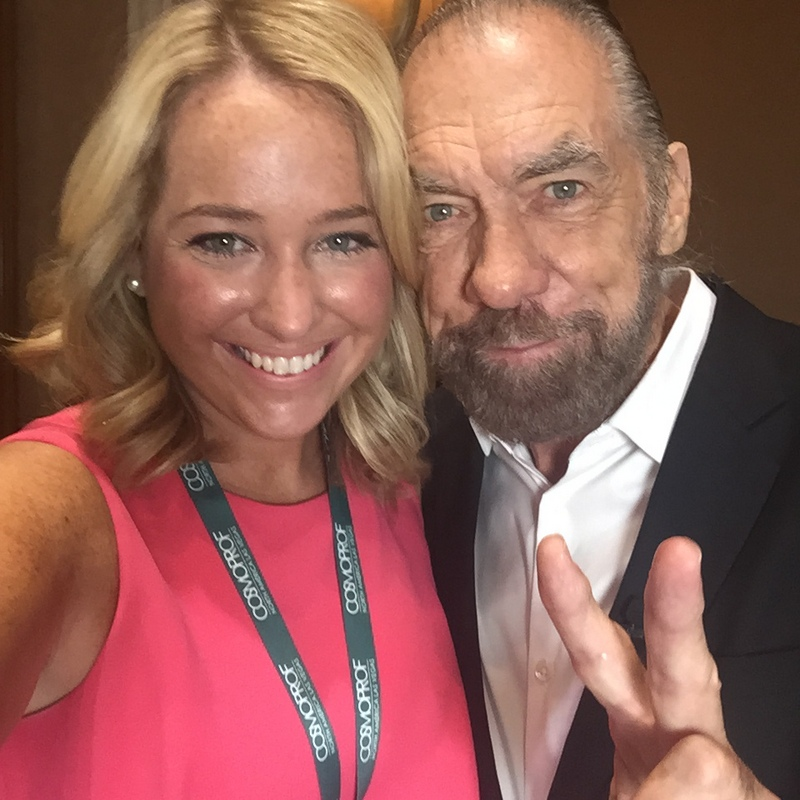 Kelsey Murray and Paul Mitchell Systems Co-founder, John Paul Dejoria.