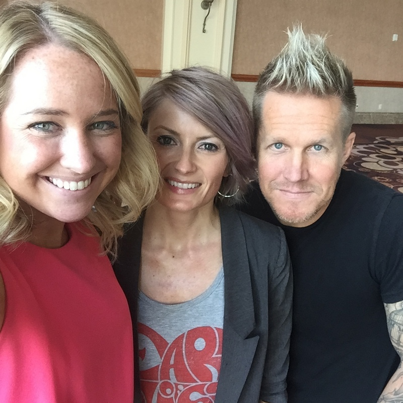 Kelsey Murray and Butterfly Loft Salon owners David and Alexis Thurston.