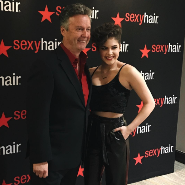 Sexy Hair President and CEO Karl Heinz Pitsch and Calysta Bevier (image via @calybev)