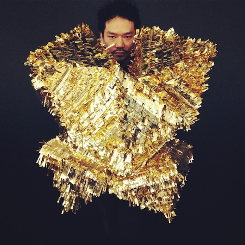 This gold piñata-ornament is the inspiration behind the next statement piece in my wardrobe.