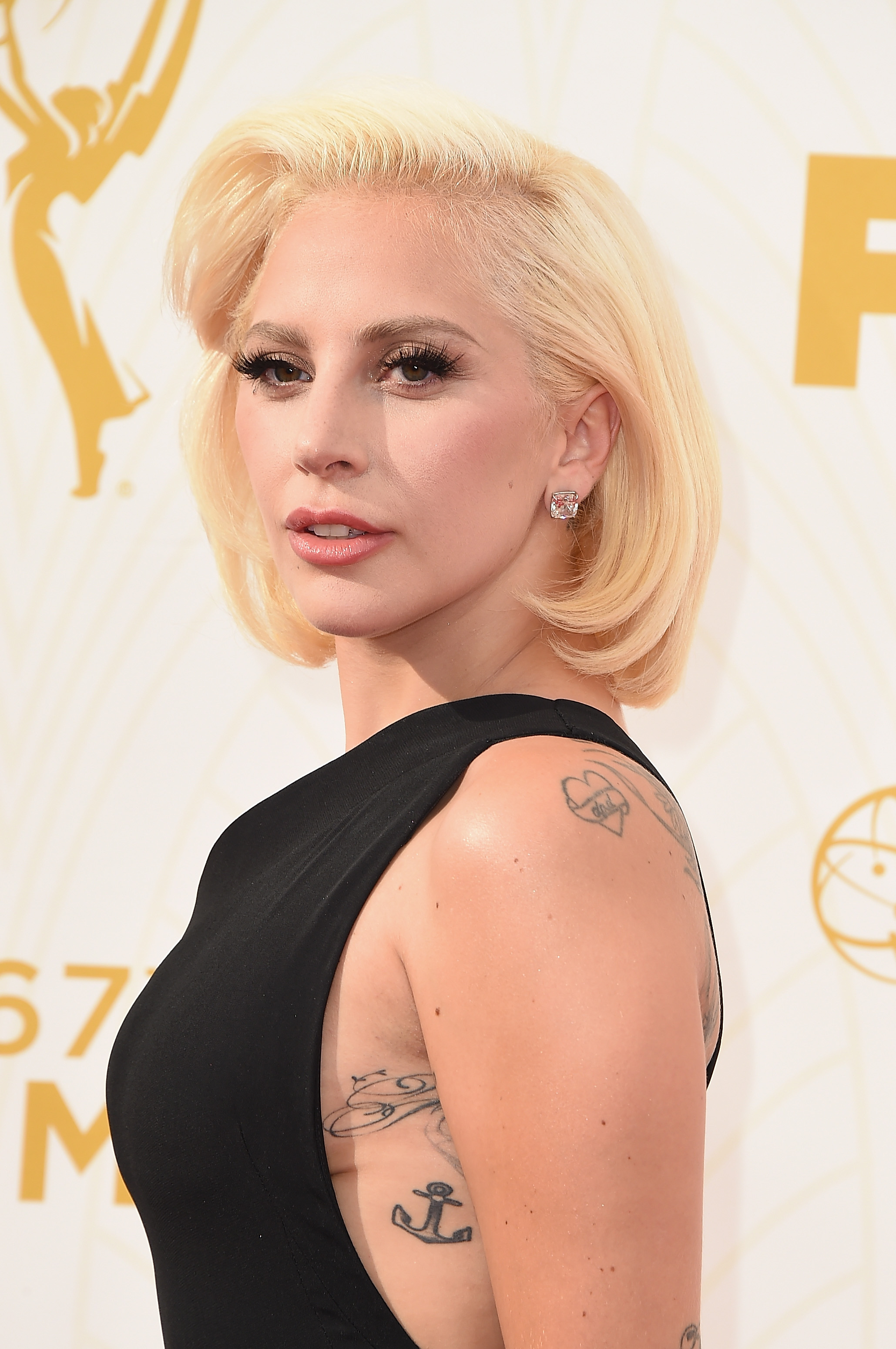 Lady Gaga donned a Grace Kelly inspired do styled by Frederic Aspiras using Matrix Style Link products.  Photo Credit: Steve Granitz
