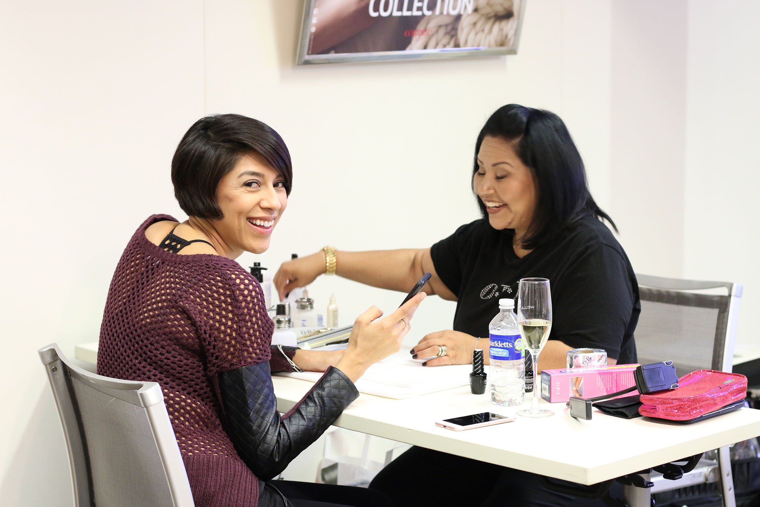 OPI educators provided manicures during the event.