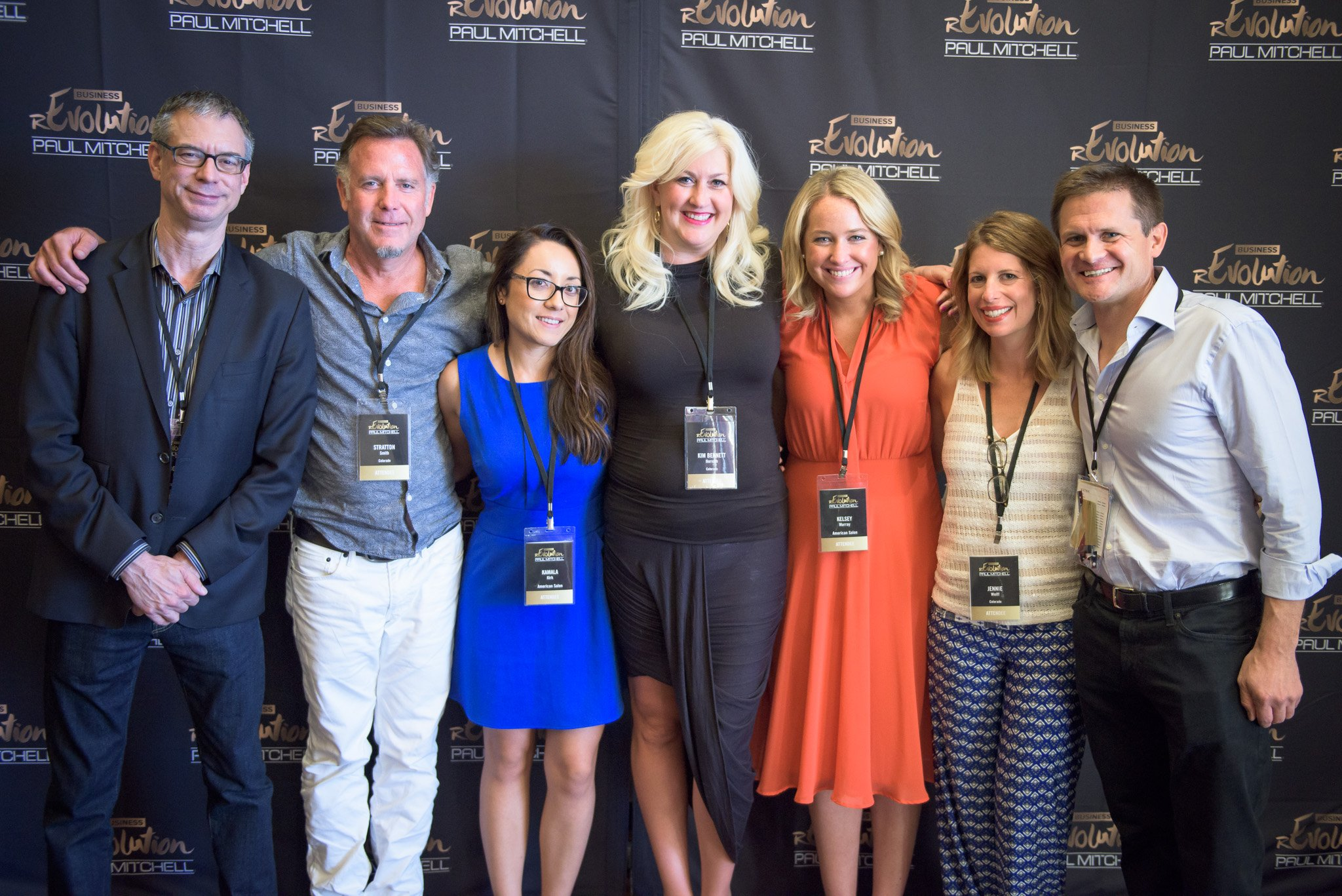 Attendees from Sola Suites Executive Team with the American Salon Team