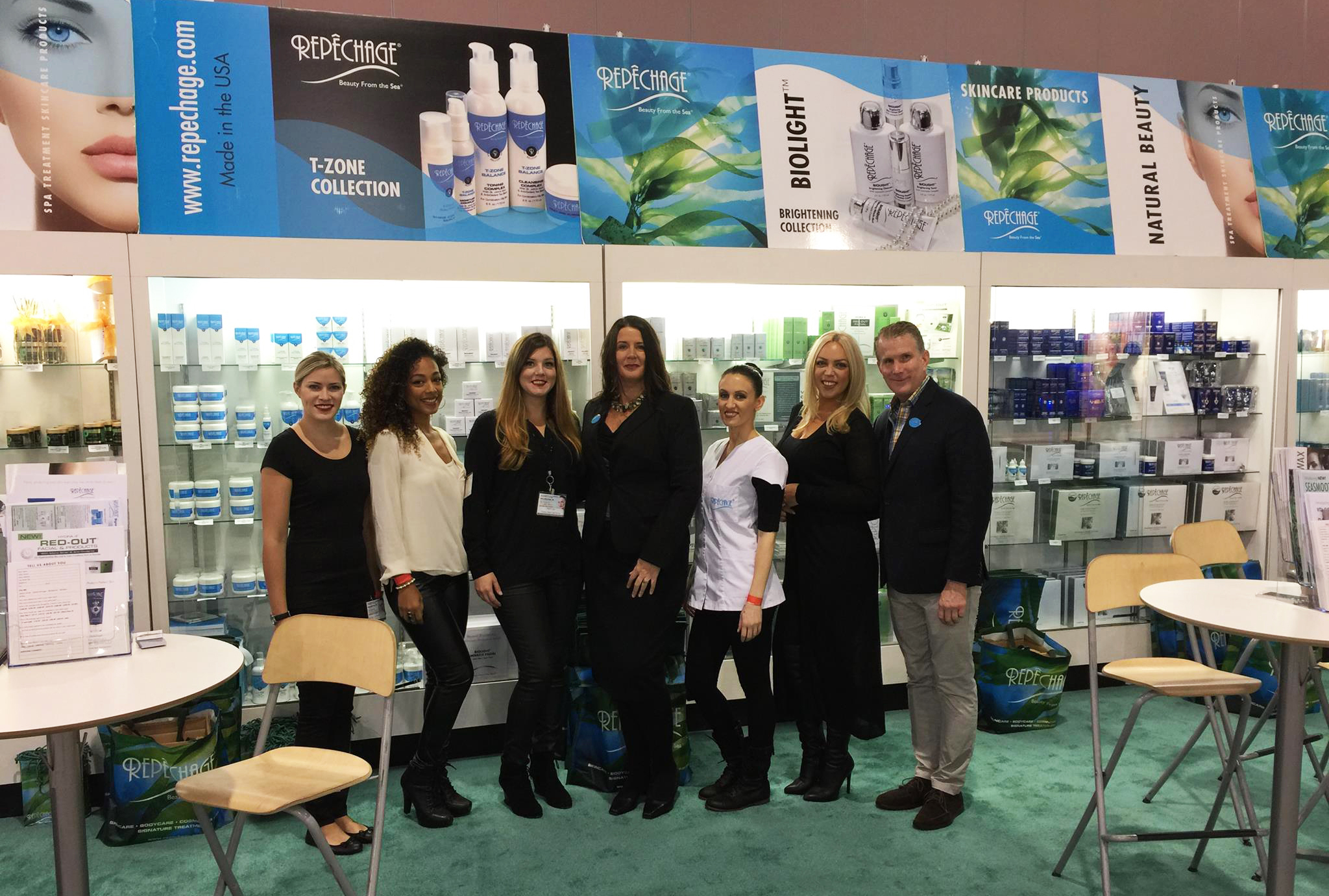 The Repêchage team at LNE's International Congress of Esthetics and Spa, Philadelphia, 2015