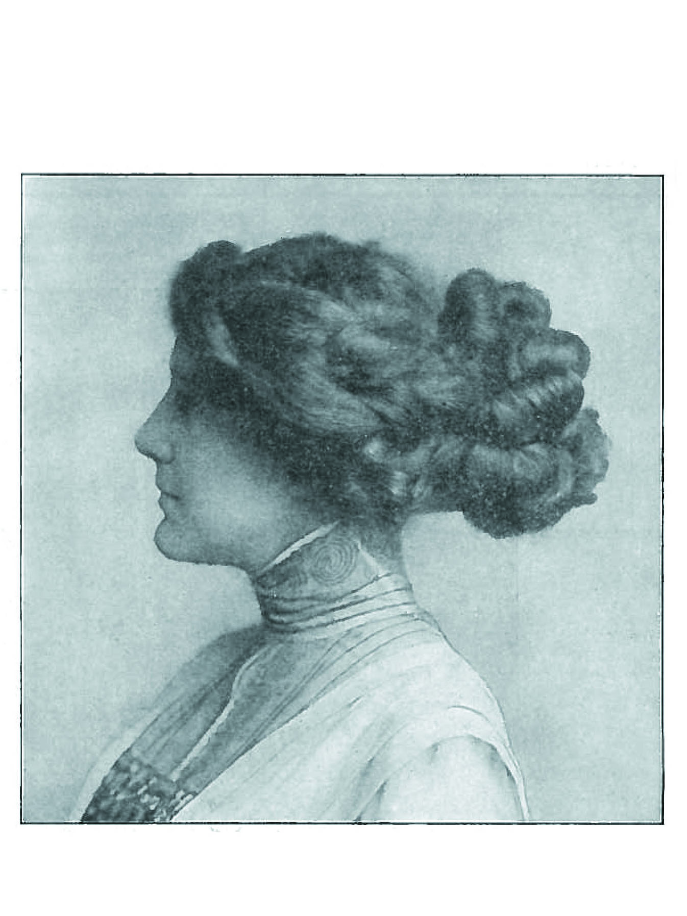 New York City's own House of Butzel was known to be one of the biggest manufacturers of hair goods like this fashionable Coronet Braid.