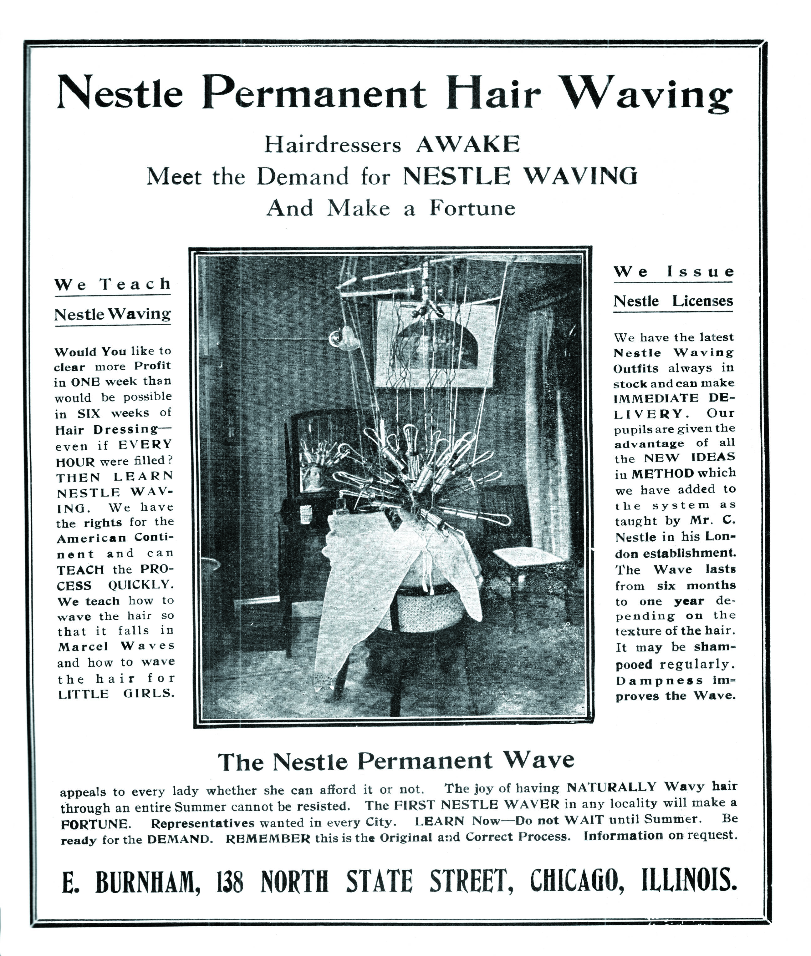 An ad for Nestle permanent waving.