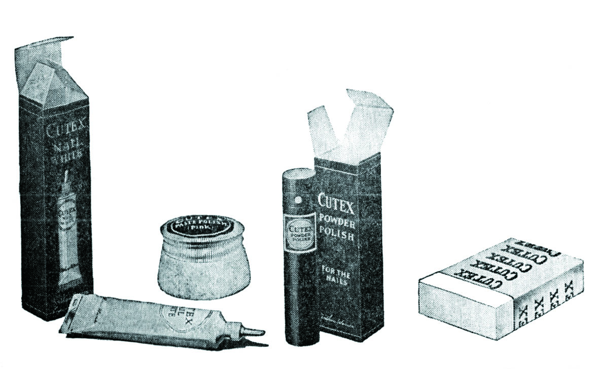 The famous Cutex nail brand offered a variety of manicure-devoted items even back then.