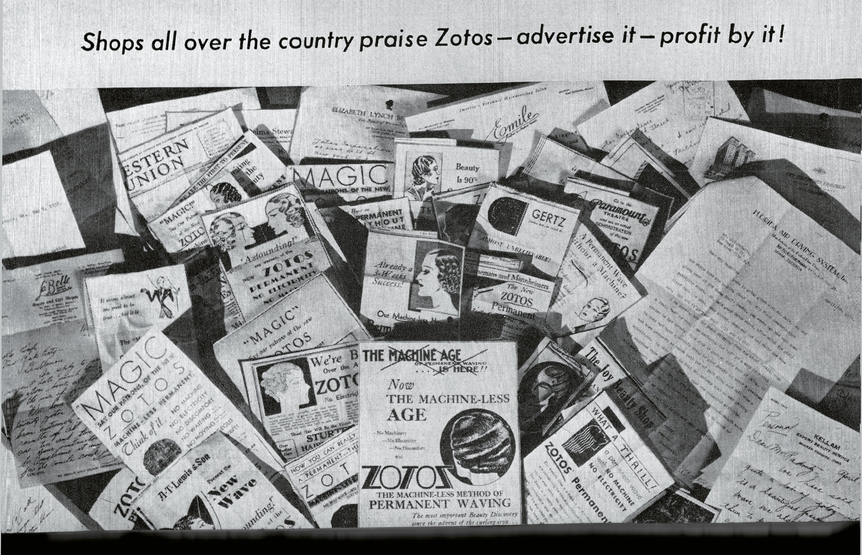 The various nationwide advertisements from Zotos, then known as Inecto.