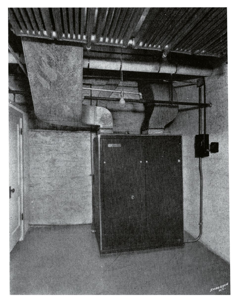 The air conditioning system installed at McGavran's Marie Earle Salon.