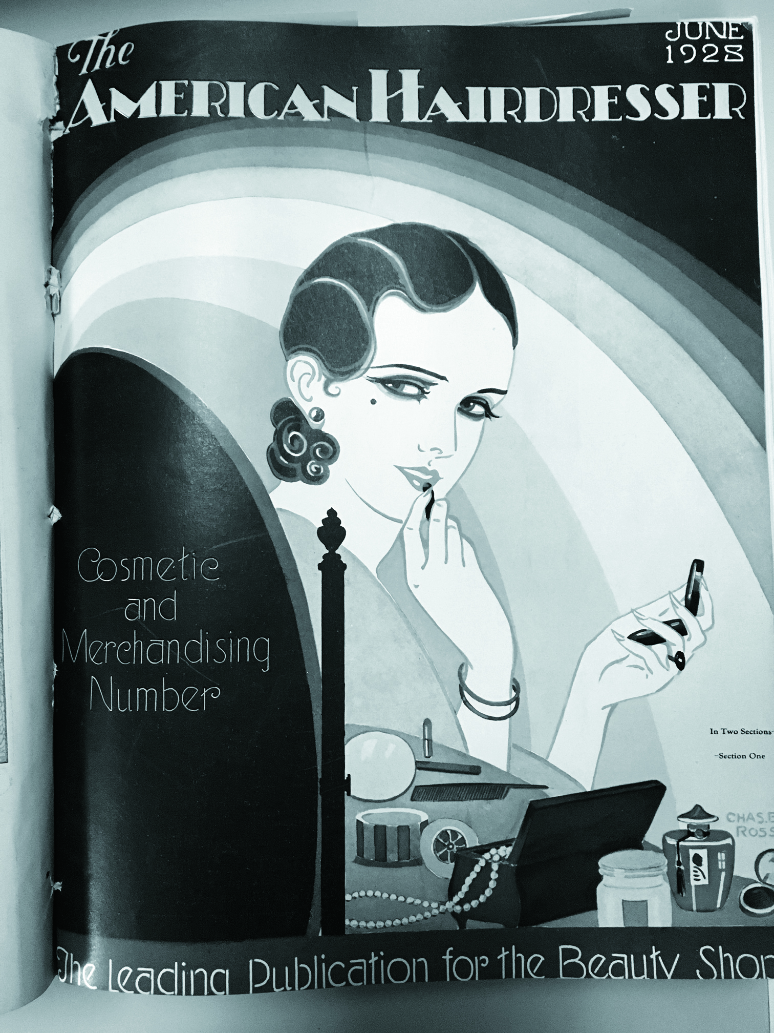 The cover of a cosmetics supplement from our June 1928 issue of The American Hairdresser.