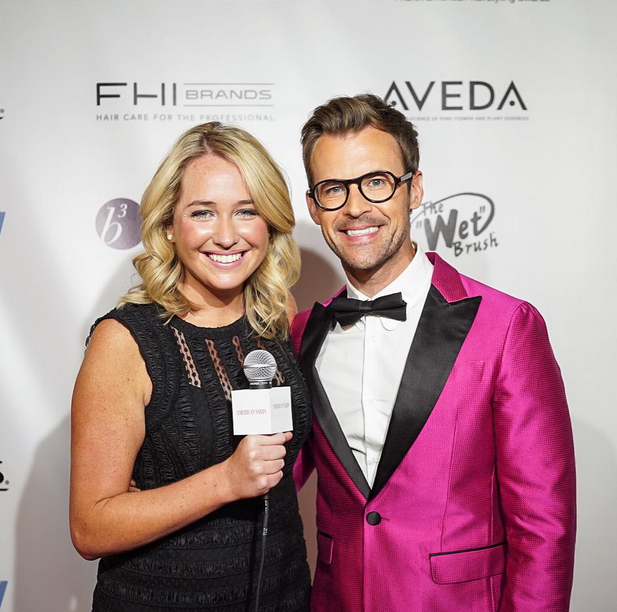 Kelsey Murray with NAHA host, Brad Goreski.