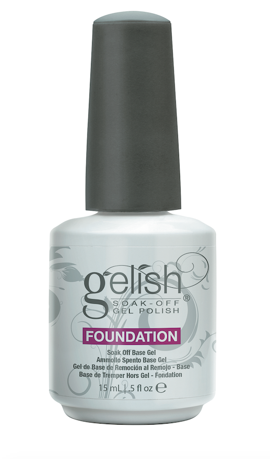 Gelish Foundation Base Gel Bonds the Gelish color to the nail plate, assuring lasting color while protecting color from chipping or peeling.