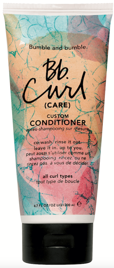 Bumble and bumble  Bb. Curl Custom Conditioner is a 3-in-1, multi-purpose conditioner that can be used as a co-wash to remove product buildup and hydrate curls.