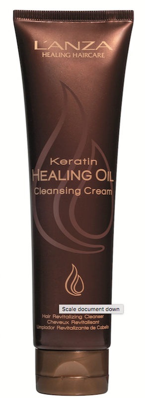 L'ANZA Keratin Healing Oil Cleansing Cream purifies hair with natural fruit extracts.
