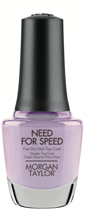 Morgan Taylor Need for Speed is a faster-than-fast-dry top coat that provides  a picture-perfect finish with high shine for all nail types.