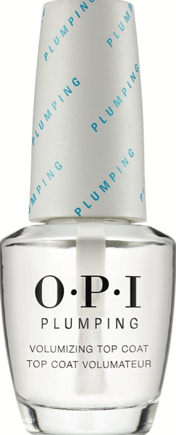 OPI PlumpingVolumizing Top Coat is an innovative formula that builds instant volume to plump nails and creates a protective, high-gloss finish.