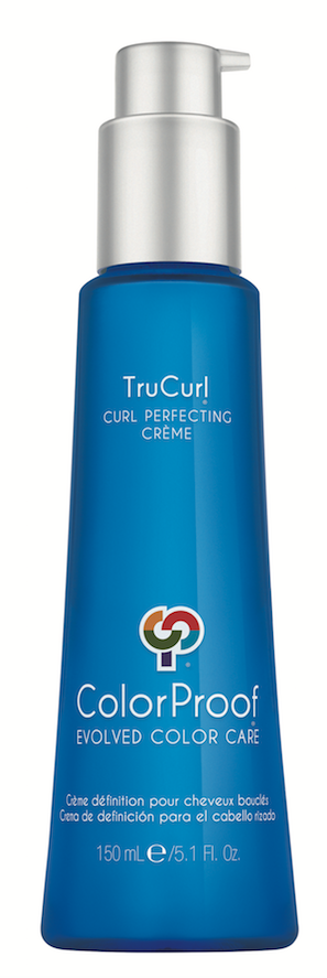 ColorProof  TruCurl  Curl Perfecting Crème  uses coconut and argan oil to hydrate and elongate waves and curls.