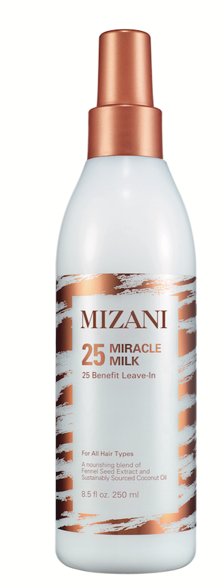 Mizani 25 Miracle Milk gives all curl types added hydration.