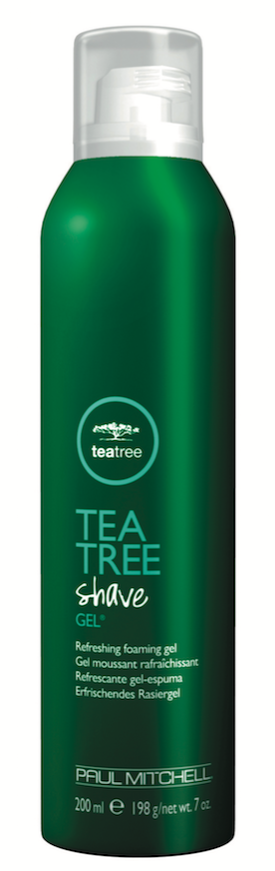 Paul Mitchell  Tea Tree Shave Gel awakens the senses with a combination of tea tree oil, peppermint and lavender. The rich foam cools the skin and helps provide an extra close shave.