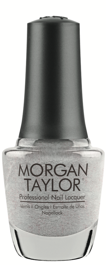 Morgan Taylor  Let's Get Frosty Over-the-top sparkle makes this silver shade a perfect color choice for the holidays.