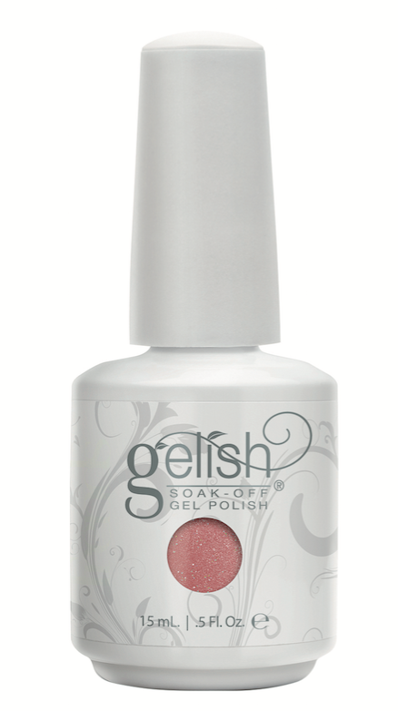 Gelish  Just Naughty Enough Dress up any look with this rosy bronze glitter from the Wrapped in Glamour Holiday 2016 Collection.