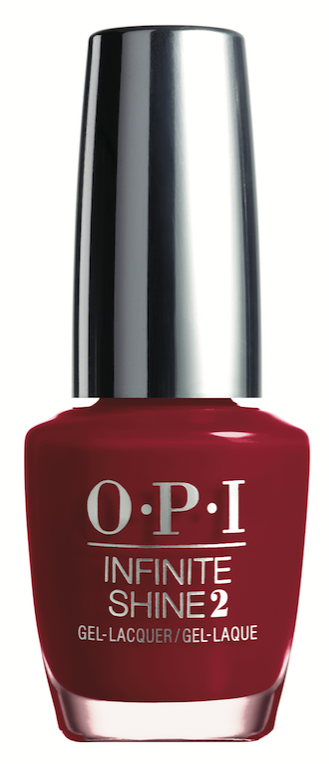 OPI  Ring The Buzzer Again From the Breakfast at Tiffany's Collection, this sultry red comes in both GelColor and Infinite Shine formulas.