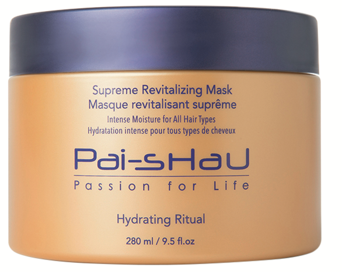 Pai-Shau  Supreme Revitalizing Mask uses a mixture of high-performance cationic polymers and a signature tea complex to nourish thirsty curls.