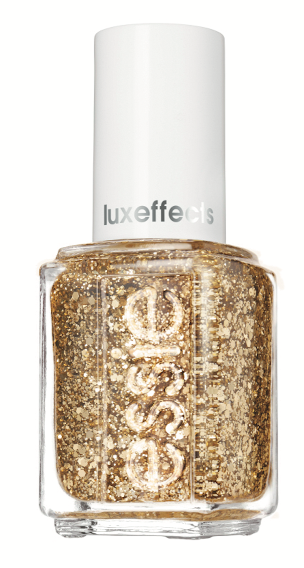 Essie Rock at the Top offers shimmer, dimension and reflection  with pristine gold glitter for instant glam