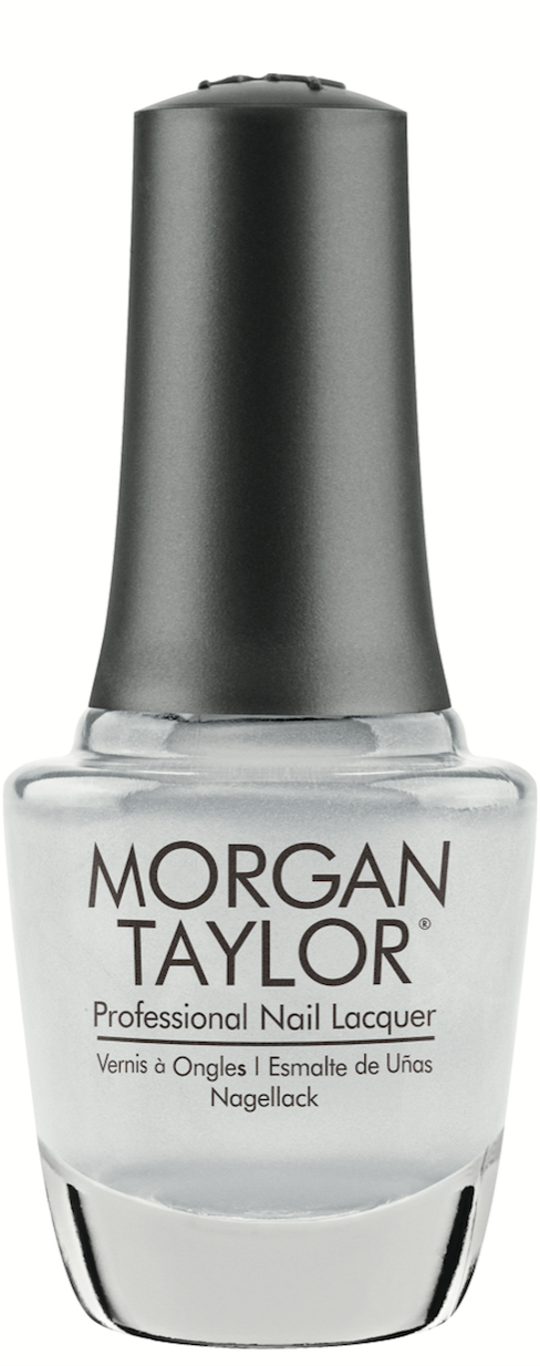 Morgan Taylor Could Have Foiled Me gives nails a sleek chrome finish with reflective shine.