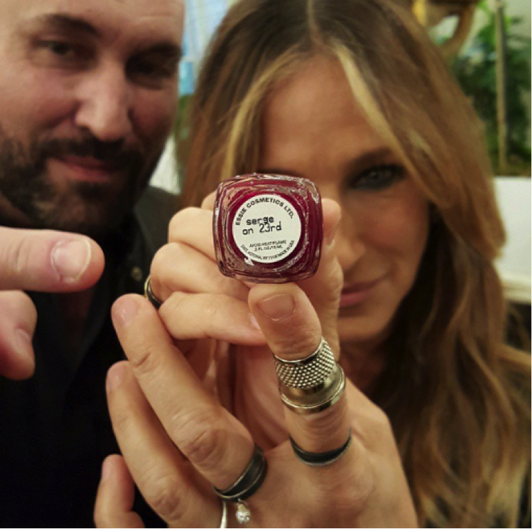 Normant's longtime client Sarah Jessica Parker showing off the new limited-edition polish shade. Image courtesy of Instagram.com/sarahjessicaparker