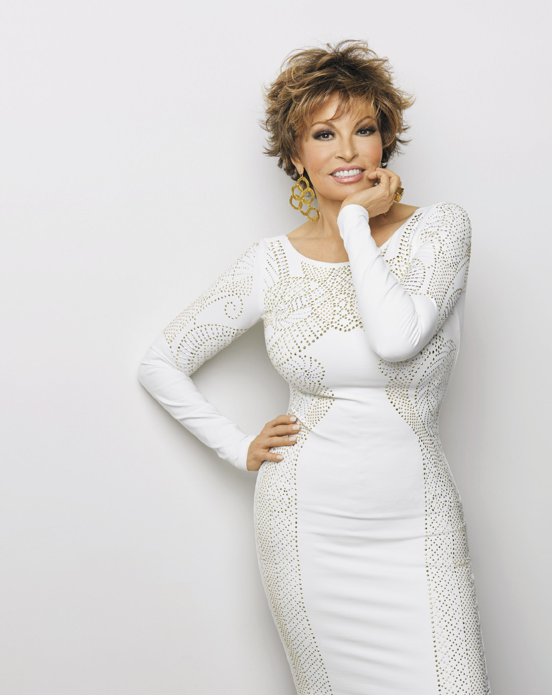 Raquel Welch wears Voltage, one of her best-selling favorites.