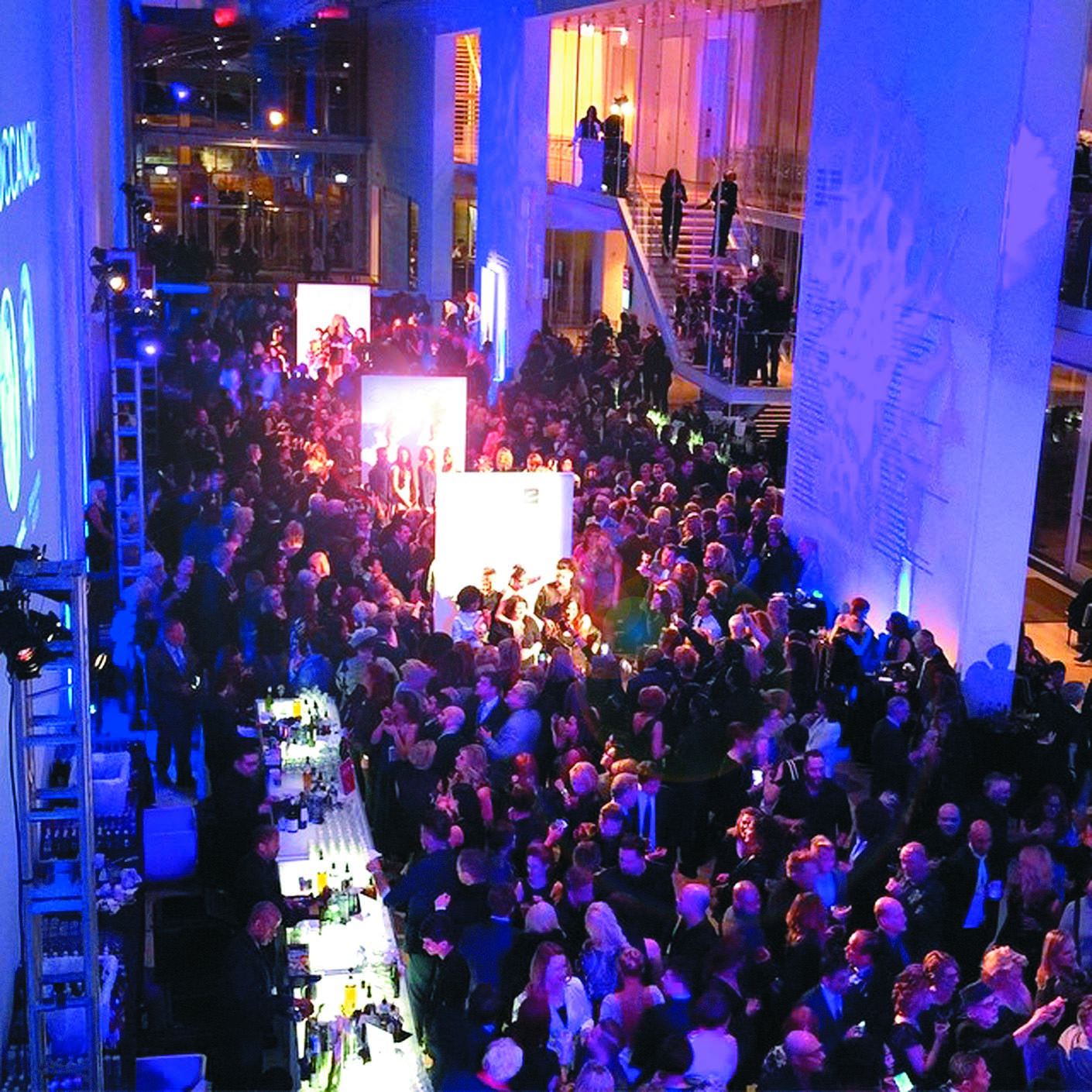 The Art Institute of Chicago was packed with party revelers