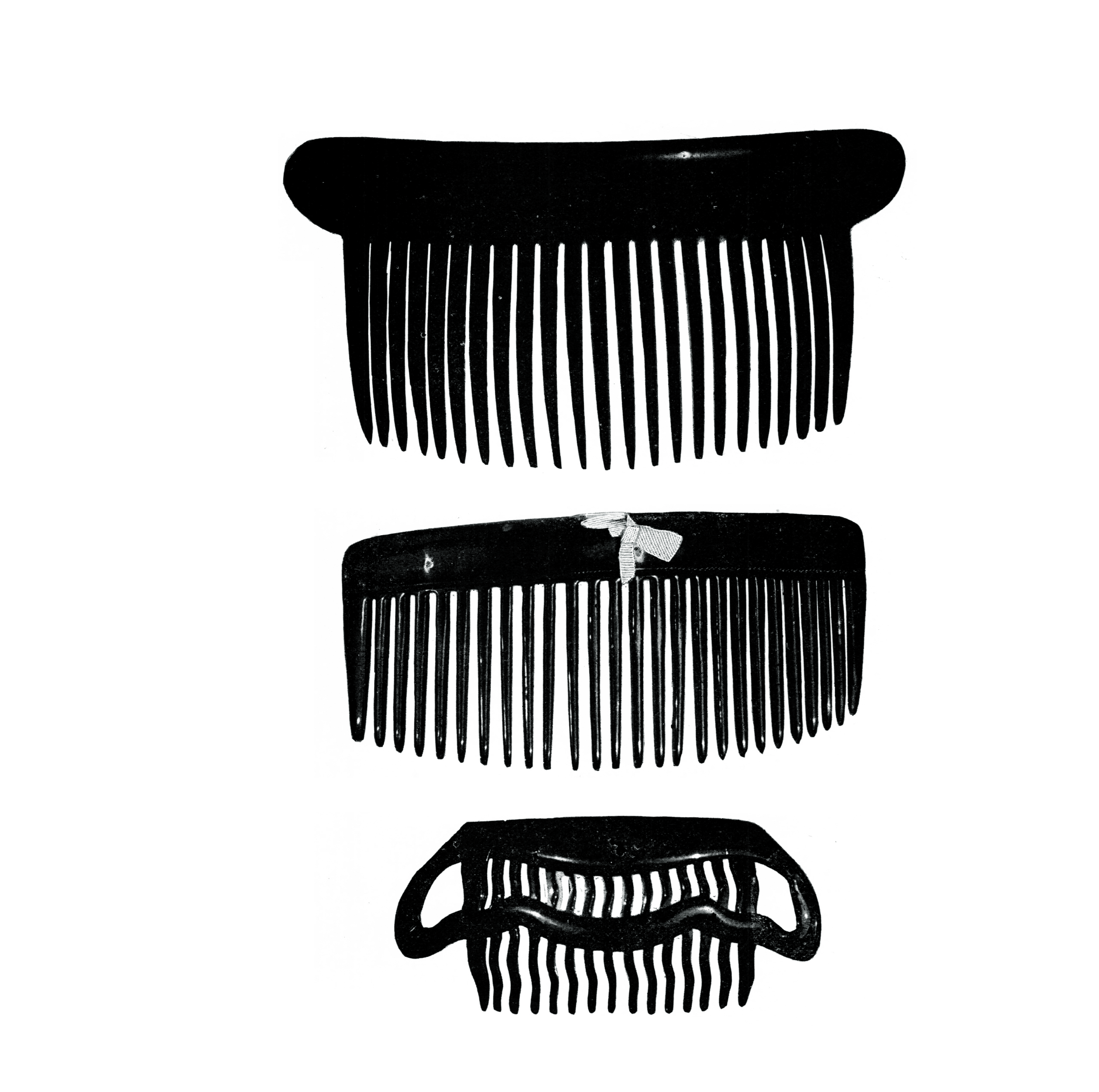 Hair Combs: The Empire or  Back Comb,  the Side Comb and the Stray Lock Comb.