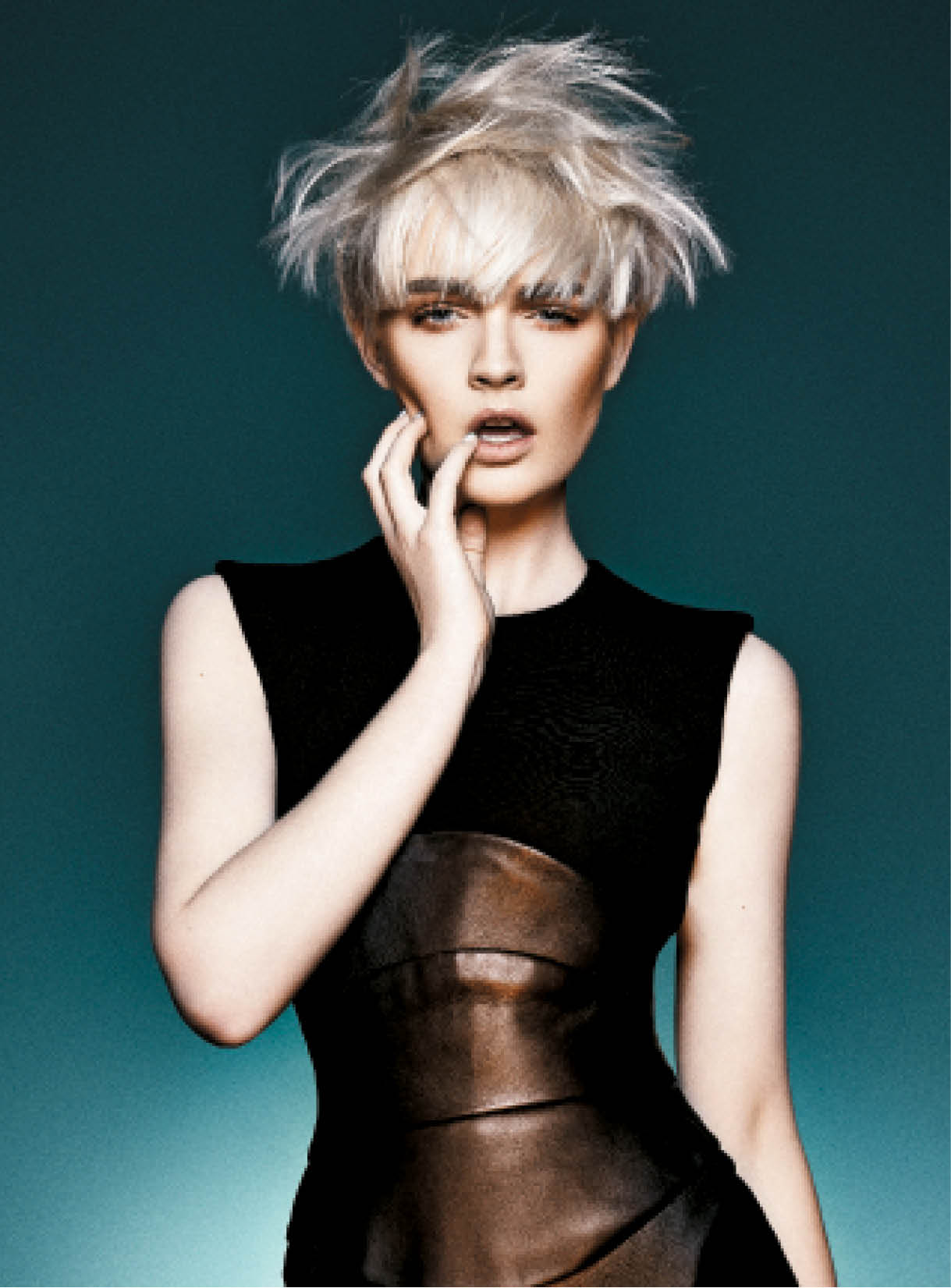 Neil Barton called on texture and a long fringe to make a strong style statement.