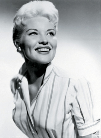 Lynn's first celebrity client, Patti Page, with the short cut that caused a media sensation